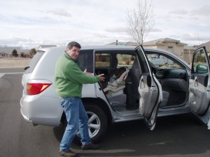 John Installing the car seat