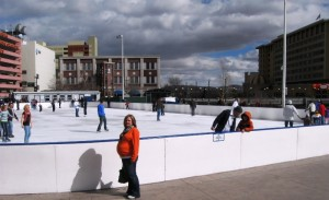 Ice skating rink downtown Reno
