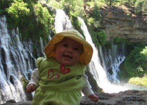 A fun stop at Burney Falls on the way home