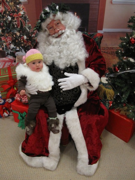 Grace's First Visit With Santa!
